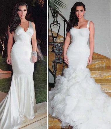 Kim Kardashian 2nd Wedding Dress