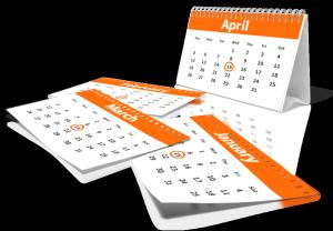 FMLA 12 Month Calendar
