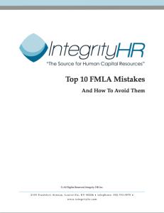 FMLA Mistakes Whitepaper Image